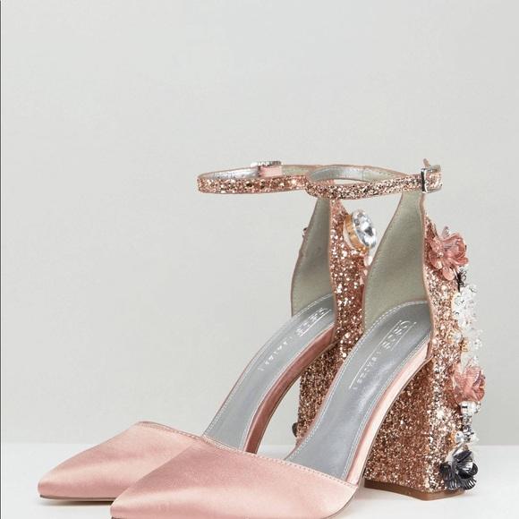 27b410e825e5 ASOS Shoes | Design Passionate Embellished High Heels | Poshmark